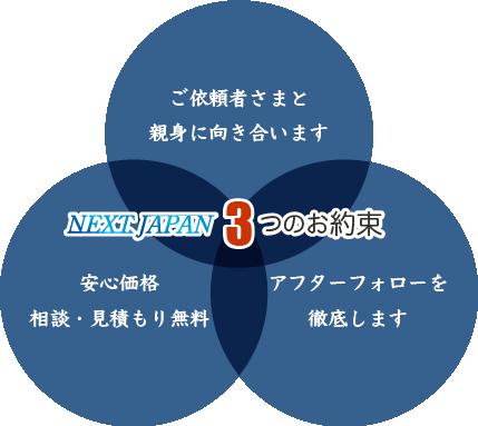ネクストジャパン3つのお約束